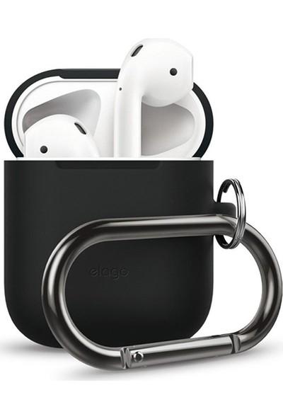 Elago Apple Airpods Askılı Silikon Kılıf Hang Case - Siyah