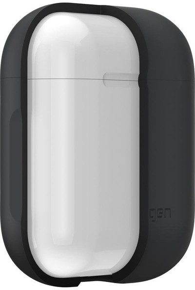 Spigen AirPods 2/1 Nesil Uyumlu Kılıf Charcoal (Silikon Kasa) - 066CS24811