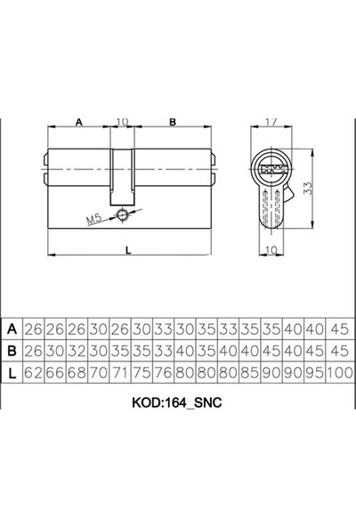 Kale 164SNC Sistem Barel Saten 68mm