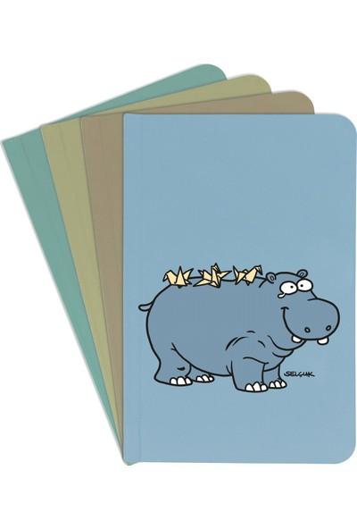 Penguen Defter - Hipopotam(Çizgili)