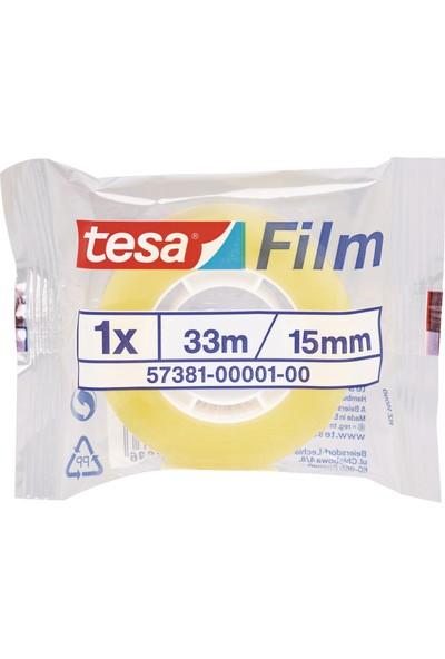 Tesa Film Standart Şeffaf 33m 15mm Tekli