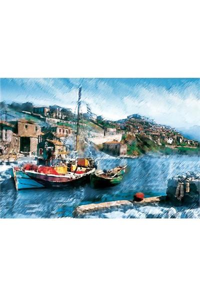 Puzz 2000 Parça Puzzle Balıkçı Teknesi