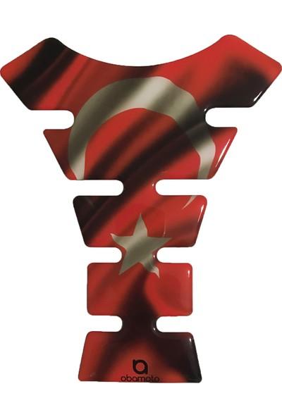 Atatürk ve Ay Yıldızlı Bayrak Motorsiklet Depo Üstü Sticker /Tankpad