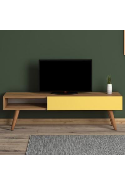 Monte Sehpa Alfa Tv Sehpası- Meşe Sarı