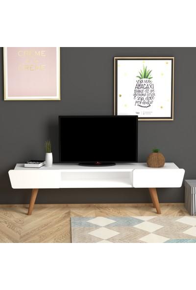 Monte Sehpa Butterfly Tv Sehpası- Beyaz