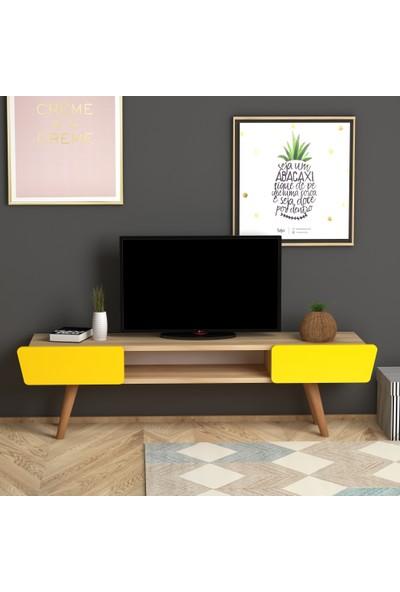 Monte Sehpa Butterfly Tv Sehpası- Meşe Sarı