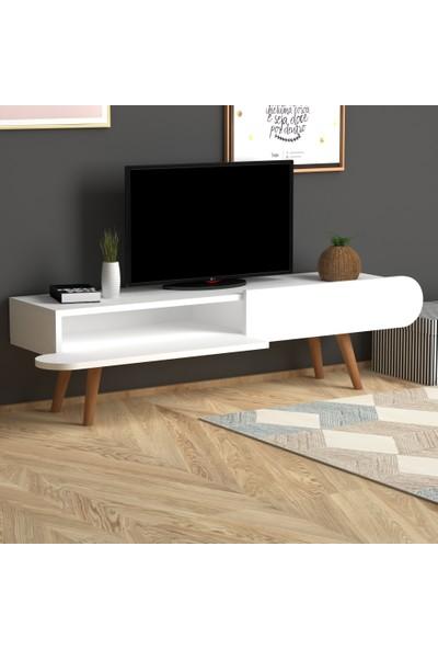 Monte Sehpa Lotus Tv Sehpası- Beyaz