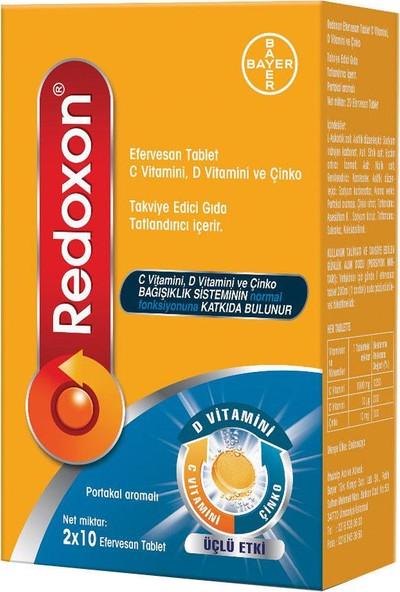 Redoxon 3'lü Etki C D Vitamini Çinko Efervesan Tablet 20'li