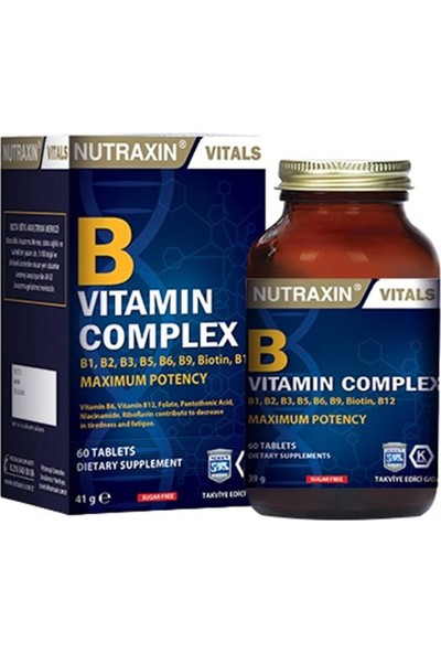 Nutraxin B vit Complex 60 kapsül