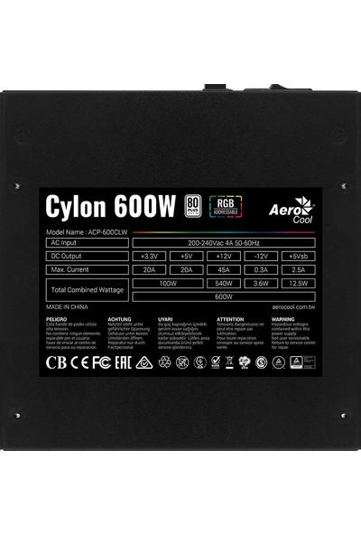 Aerocool Cylon 600W RGB 80+ Güç Kaynağı (AE-CYLNP600)