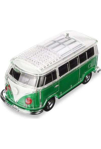AppCity Kristal Ledli Nostalji Minibüs Bluetooth Hoparlör - Yeşil