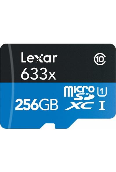 Lexar LSDMI256BBEU633A 256GB 633X microSDXC UHS-I 95Mb/sn + SD Adaptor U1 Class10 Hafıza Kartı