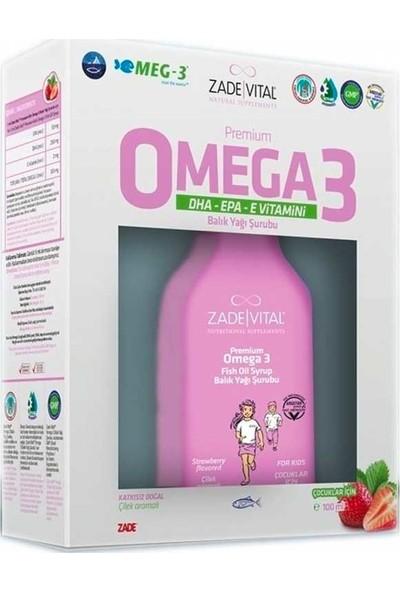 Zade Vital Omega3 Şurup 100 Ml Çilek Aromalı