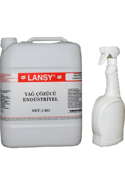 Lansy Yağ Çözücü Endüstriyel 5 kg ve Uygulama Spreyi