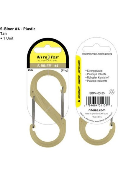 S Biner Plastik Size 4 Tan Karabina