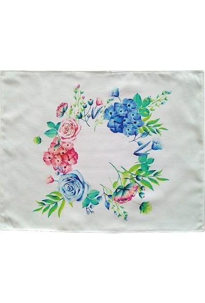Atölye No 35 Çiçek Desen Floral Amerikan Servis