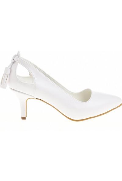 Derigo 24162 Beyaz Kadın Stiletto