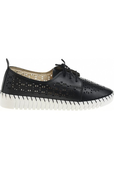 Derigo 45113 Siyah Kadın Casuel Ayakkabı