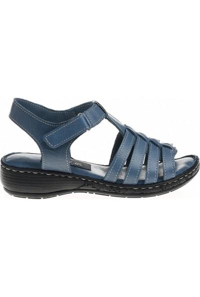 Derigo 5214 Mavi Kadın Sandalet