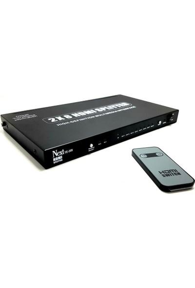 Next Ye-209 2 x 8 HDMI Switch-Splitter Full HD 4K