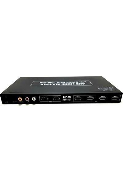 Next Ye-106 4 x 2 HDMI Matri x Full HD 4K