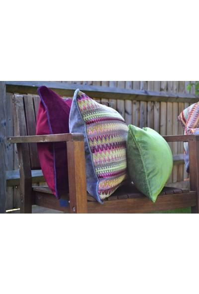 McAlister Textiles Curitiba Yastık Kılıfı Dekoratif Kırlent Geometrik Desen Pembe 60cmx60cm