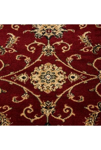 Ayyıldız Halı Klasik Desenli Halı İran Tarzı Barok Süslemeler Kırmızı Yeşil Krem Renkler 80X150 Cm