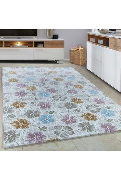 Carpettex Halı Modern Çiçek Deseni Halı Çökmeli Karışık Renk Süslemeli 100X300 Cm