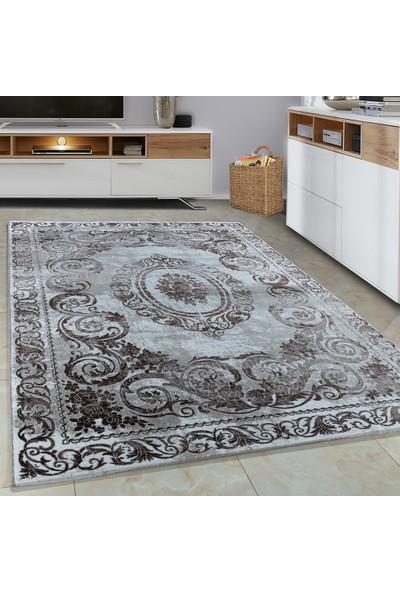 Carpettex Halı Halı Modern Desenli Barok Süslemeli Kahverengi Bej Krem Renkli 80X150 Cm