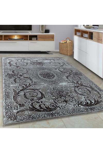 Carpettex Halı Halı Modern Barok Desenli Süsleme Kahverengi Bej Krem Renk 80X150 Cm