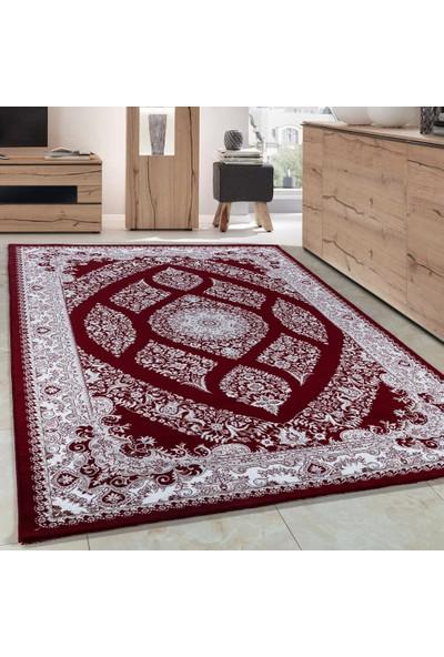 Carpettex Halı Klasik Akrilik Halı İran Tarzı Çizimler Kırmızı Krem Renkli 80X150 Cm