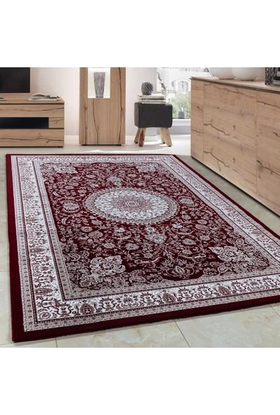 Carpettex Halı Klasik Akrilik Halı İran Tarzı Çizimler Kırmızı Bej Krem Renkli 80X150 Cm