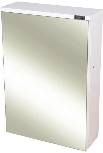 Merkez Mobilya Tek Kapaklı Aynalı Banyo Wc Dolabı