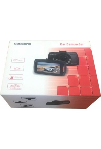 Concord 2.5 İnç TFT C-650 VGA G-Sensör Araç İçi Kamera