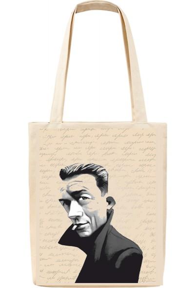 Tiydem Baskılı Bez Çanta Albert Camus