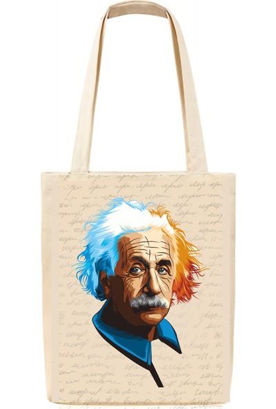 Tiydem Baskılı Bez Çanta Albert Einstein