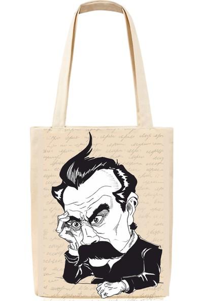 Tiydem Baskılı Bez Çanta Friedrich Nietzsche