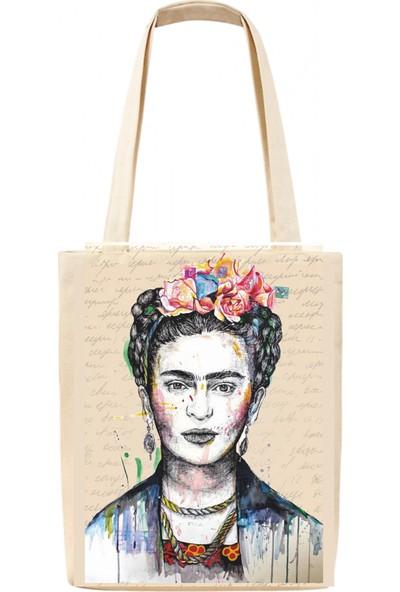 Tiydem Baskılı Bez Çanta Frida Kahlo