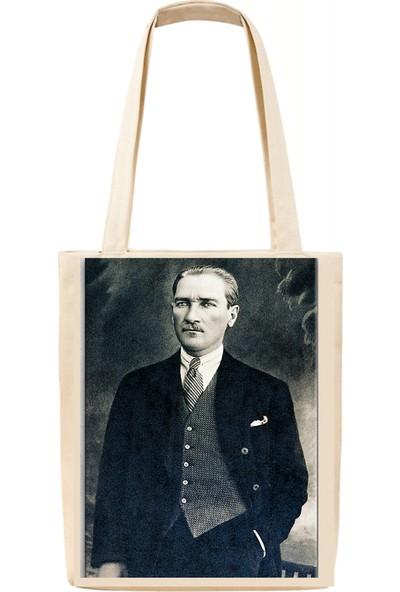 Tiydem Baskılı Bez Çanta Atatürk