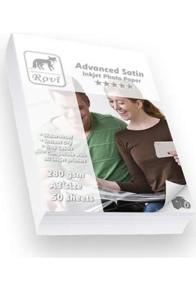 Rovi Advanced Satin Fotoğraf Kağıdı - 280Gsm - 50Yp - A3+