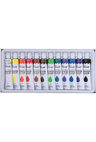 Masis 12 Renk Tüplü Akrilik Boya 12x12 ml.