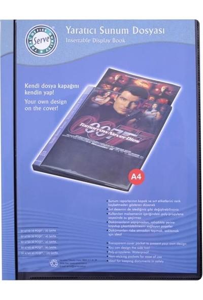 Serve Yaratıcı Sunum Dosyası,20 Sayfa 200 Micron Kalınlık Mavi Sv-6720