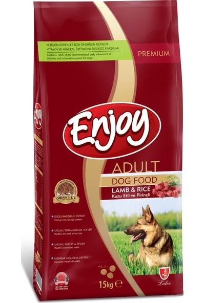 Enjoy Kuzu Etli Pirinçli Yetişkin Köpek Maması 15 Kg (Lamb & Rice)