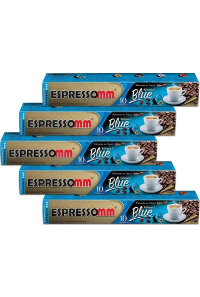 ESPRESSOMM Blue Kapsül Kahve-Kafeinsiz! (50 Adet) - Nespresso Uyumlu