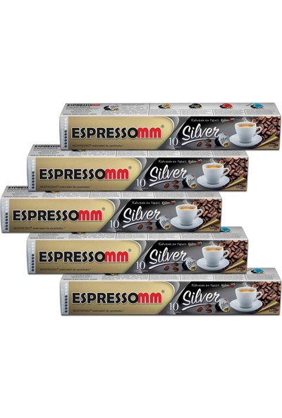 ESPRESSOMM Silver Kapsül Kahve (50 Adet) - Nespresso Uyumlu