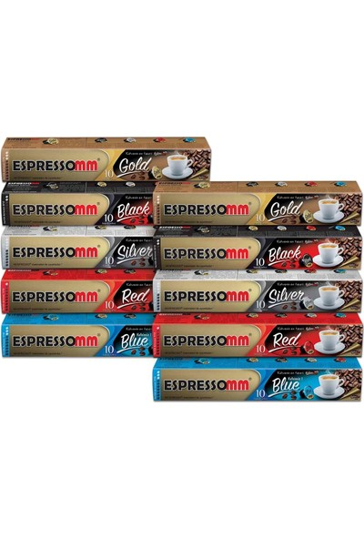 ESPRESSOMM Karışık Kapsül Kahve (100 Adet) - Nespresso Uyumlu