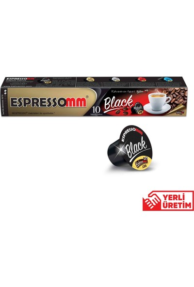 ESPRESSOMM Black Kapsül Kahve (50 Adet) - Nespresso Uyumlu
