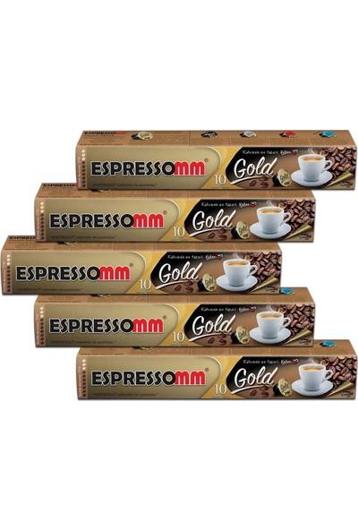ESPRESSOMM Gold Kapsül Kahve (50 Adet) - Nespresso Uyumlu