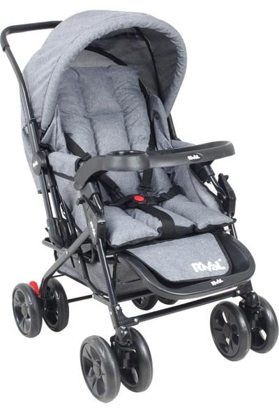 Rival RV107 Maxi Çift Yönlü Bebek Arabası Gri