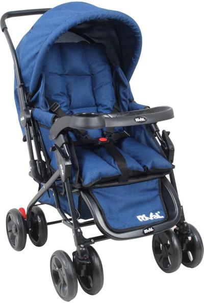 Rival RV107 Maxi Çift Yönlü Bebek Arabası Mavi